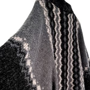 Dex Poncho / Shacket Style Buttoned Batwing Sweater. Cute & Super Cozy!